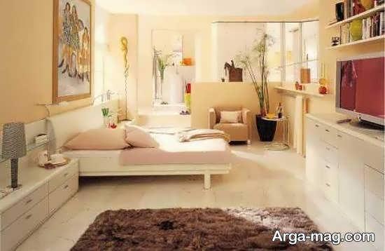 گالری فوق العاده ای از دیزاین بخش های مختلف خانه با رنگ کرم