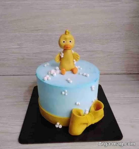 انواع ایده های بینظیر و زیبای تزیین کیک تولد نوزاد