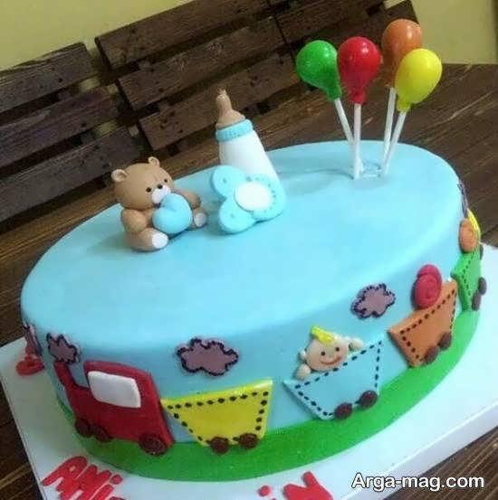 تزیین کیک میلاد نوزاد با سلیقه ای منحصر به فرد