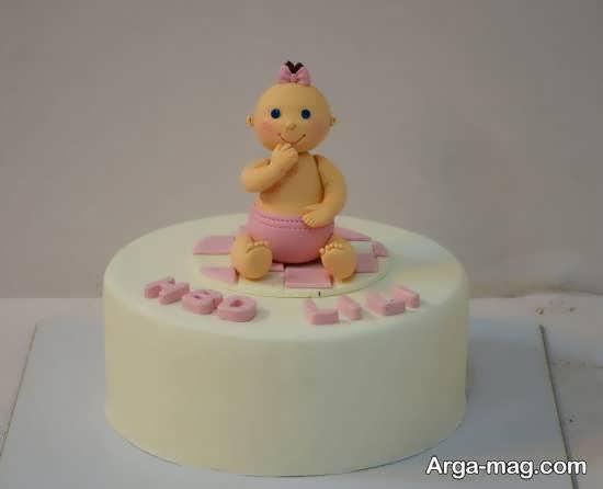ایده های زیبایی از تزیین کیک تولد نوزاد