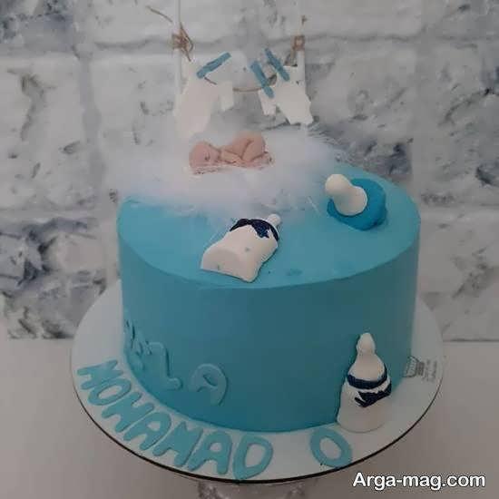تزیینات کیک تولد نوزاد با استفاده از طرح های نو
