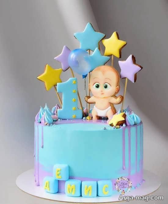 گالری شیک و منحصر به فردی از تزیینات کیک تولد نوزاد