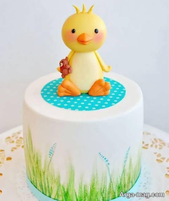 ایده هایی زیبا و دیدنی از تزیین کیک تولد نوزاد