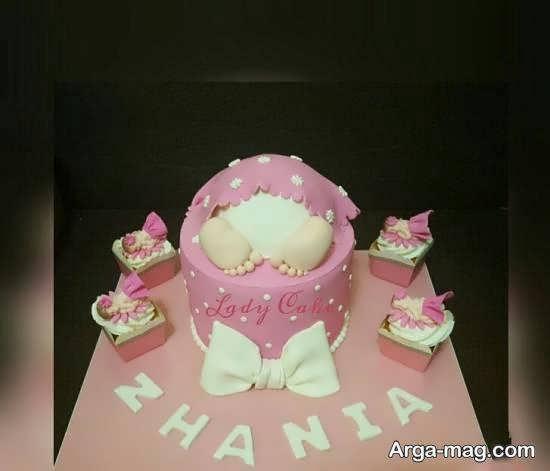 مجموعه ای دیدنی از تزیین کیک میلاد نوزاد