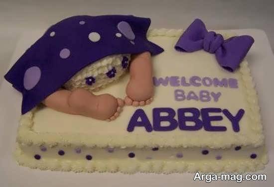 تزیینات کیک تولد نوزاد با روشی آسان و دوست داشتنی
