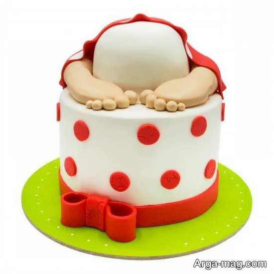 انواع ایده های جالب از تزیینات کیک تولد نوزاد