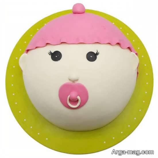 مجموعه ای دوست داشتنی تزیینات کیک تولد نوزاد
