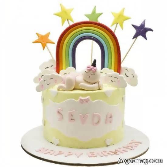 زیباسازی کیک تولد نوزاد