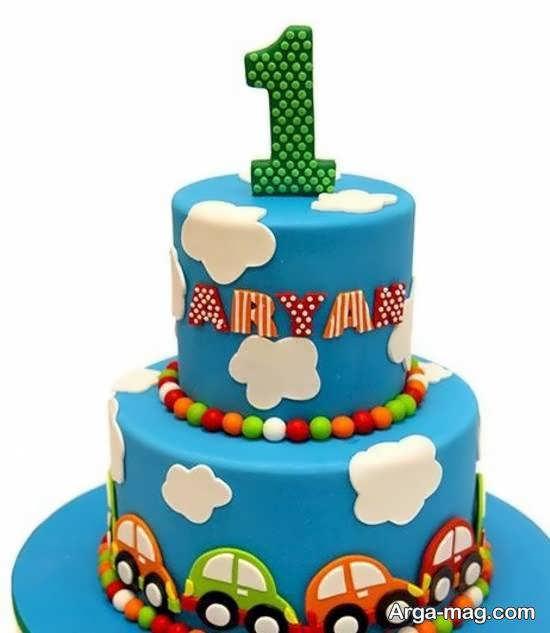 تزیینات کیک تولد نوزاد برای نوزاد یک ساله