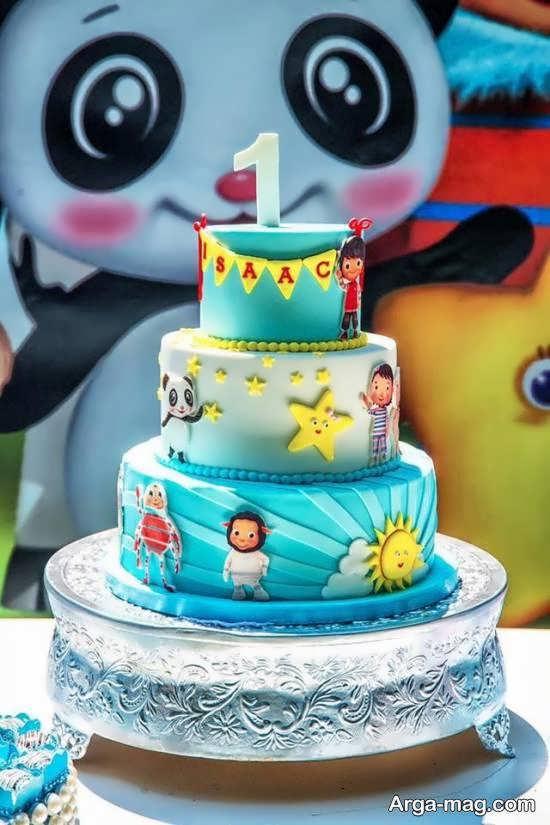 گالری زیبایی از تزیین کیک تولد نوزاد