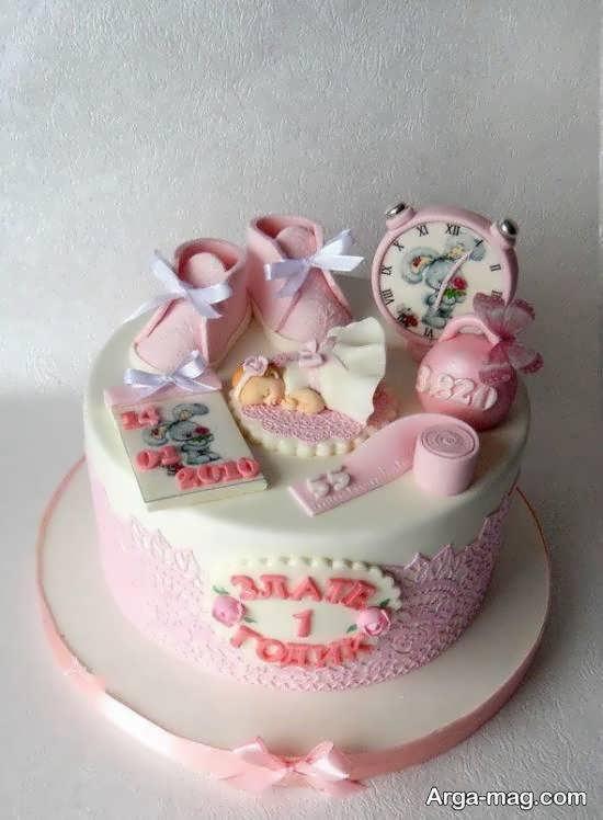 گالری شیکی برای زیباسازی کیک تولد نوزاد
