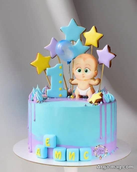 ایده های زیبا و شیک تزیینات کیک تولد نوزاد