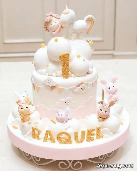 ایده هایی زیبا و نفیس از تزیین کیک تولد نوزاد