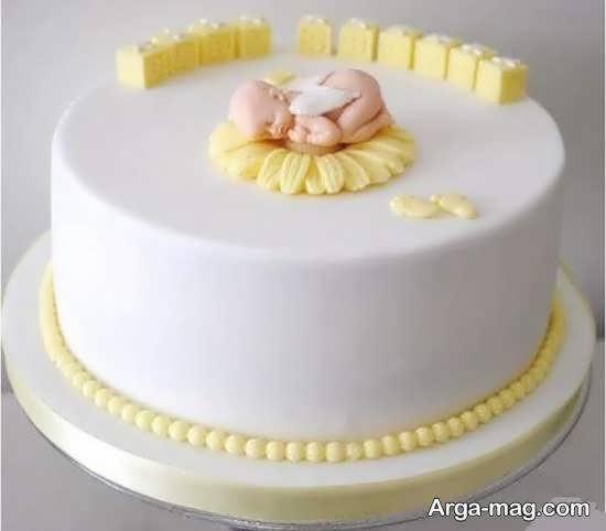 انواع نمونه های زیبای تزیین کیک تولد نوزاد