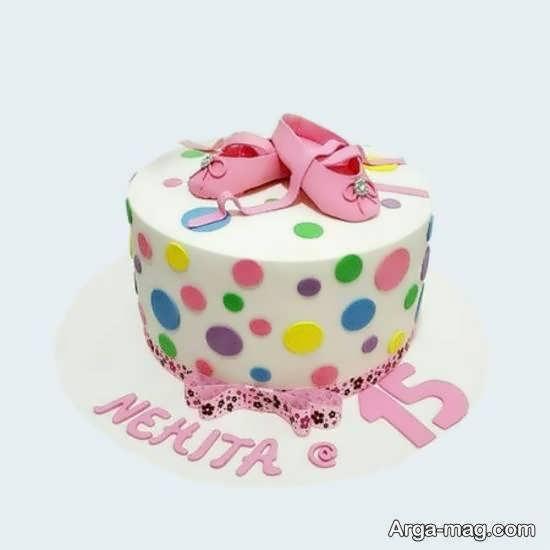 نمونه هایی برای زیباسازی کیک تولد نوزاد