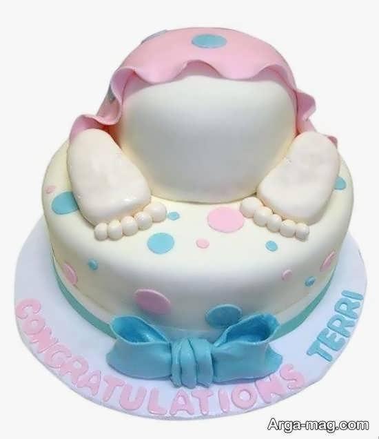 گالری زیبا و بینظیری از تزیینات کیک تولد نوزاد