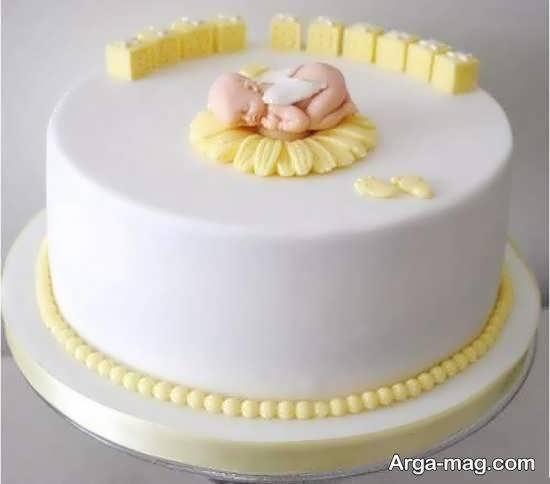 ایده هایی زیبا و شیک از تزیین کیک تولد نوزاد