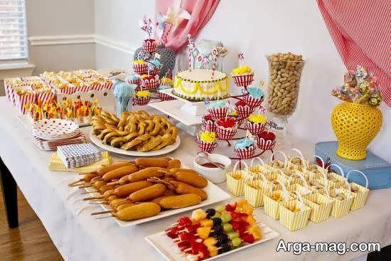 ایده هایی زیبا و شیک از تزیین خوراکی های جشن تولد