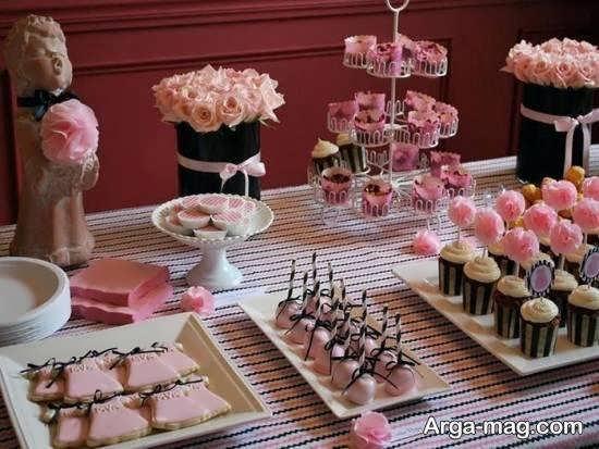 زیباسازی خوراکی های جشن تولد از جمله دسرهای خوش طعم