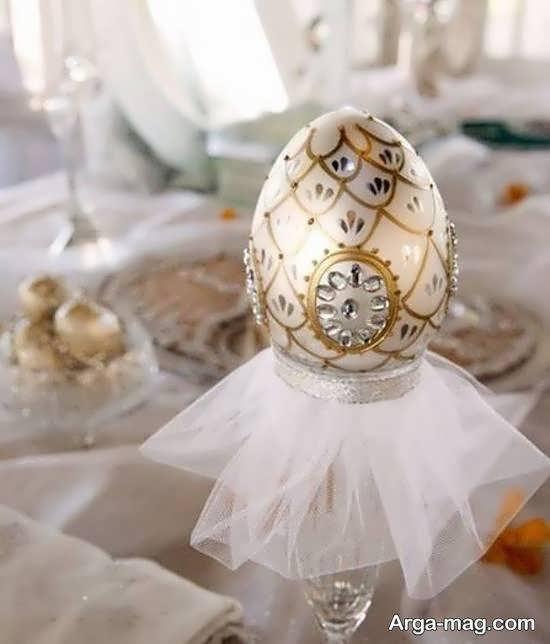 گالری شیکی از ایده های تزیین تخم مرغ برای سفره ی عقد