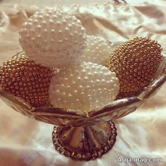ایده های تزیین تخم مرغ برای سفره عقد و عروسی