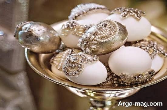 مجموعه ای منحصر به فرد از تزیینات تخم مرغ برای سفره ی عقد