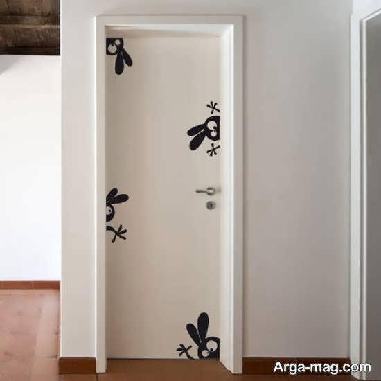 ایده های زیبایی از تزیین درب سرویس بهداشتی