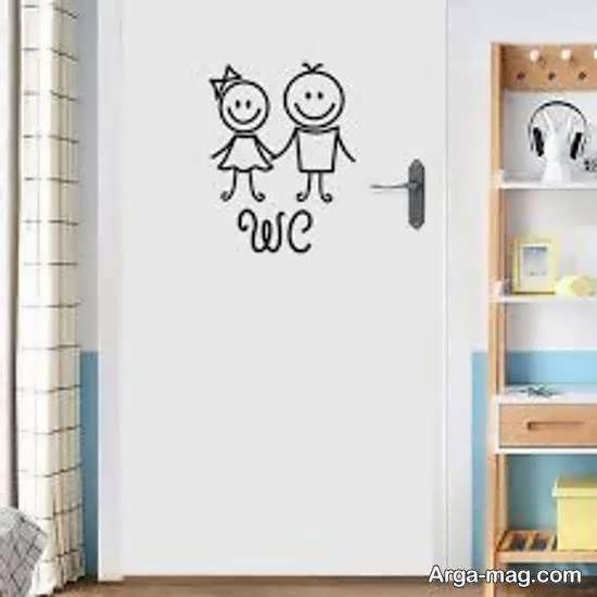 ایده هایی بینظیر و منحصر به فرد از تزیین درب سرویس بهداشتی برای خانه های لوکس