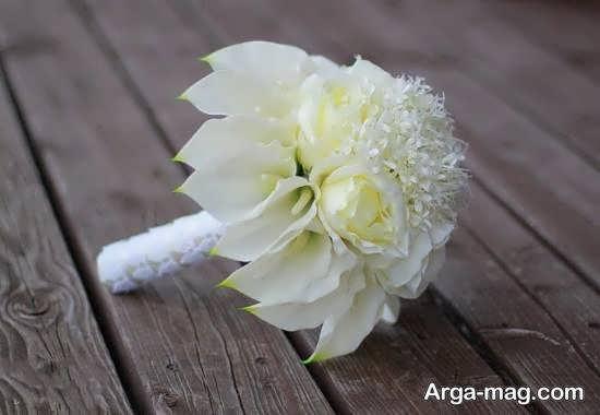 ایده هایی بینظیر و جالب از تزیین دسته گل عروس