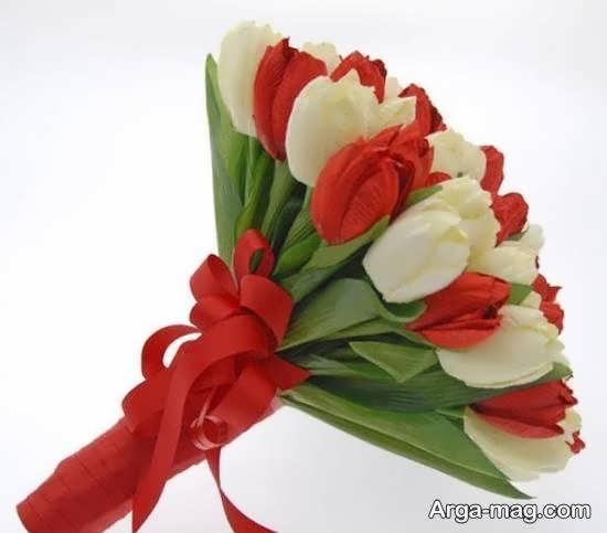 ایده هایی زیبا و شیک از زیباسازی دسته گل عروس