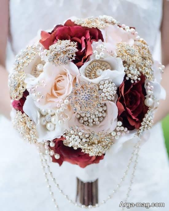 ایده هایی زیبا و شیک برای زیباسازی دسته گل عروس
