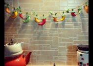 مجموعه ای لاکچری و زیبا از تزیین آشپزخانه با نمد