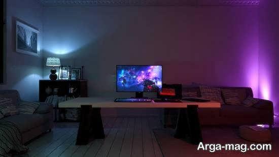 ایده هایی ناب و زیبا از انواع نورپردازی اتاق گیم