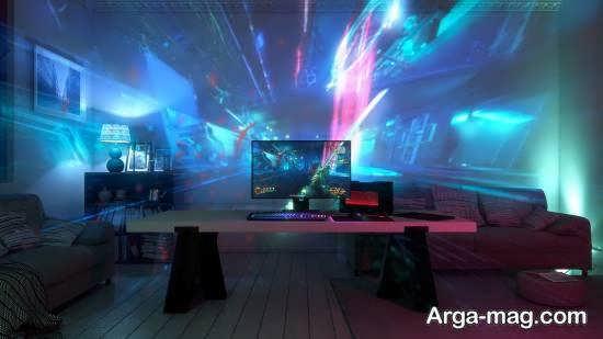 ایجاد روشنایی و نور در اتاق گیمینگ با نورهای مخفی