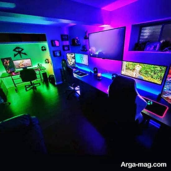 ایده هایی خارق العاده و خاص از نورپردازی اتاق گیمینگ