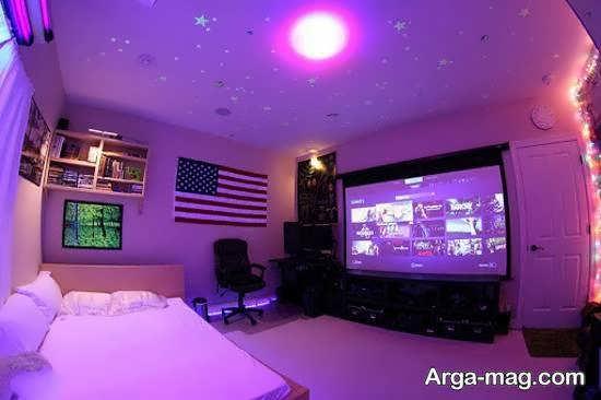 ایده هایی خاص و خارق العاده از نورپردازی اتاق بازی به صورت مخفی
