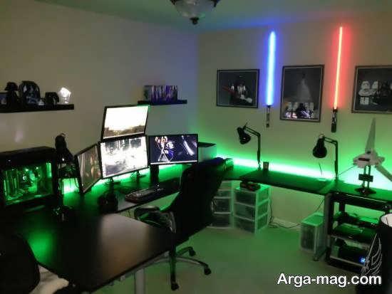 نورپردازی مطلوب و مناسب برای دیزاین اتاق گیم