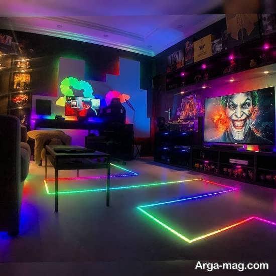 نمونه هایی خاص و خواستنی از نورپردازی اتاق گیم