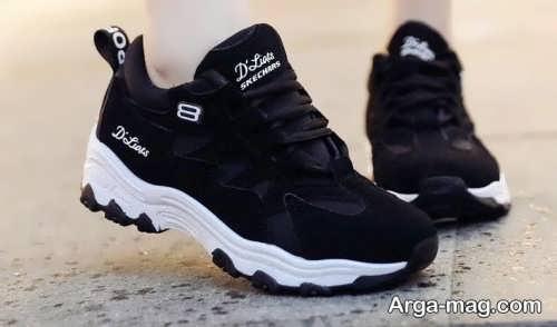 کفش مشکی و سفید دخترانه