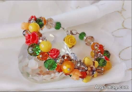 ایده هایی زیبا و دیدنی از دستبند خوشه ای همراه با روش ساختن