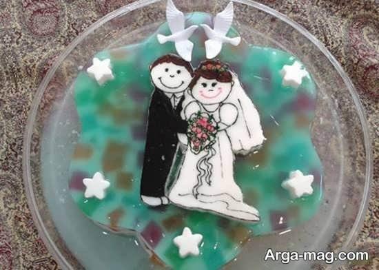 مجموعه تزیین ژله برای یخچال عروس