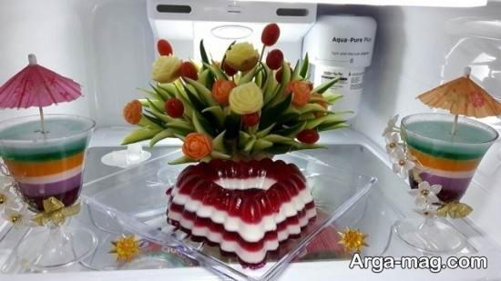 انواع مختلف و زیبا تزیین ژله برای یخچال عروس