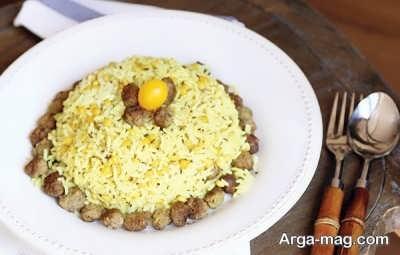 لپه پلو با زیره غذای خوشمزه کرمانی