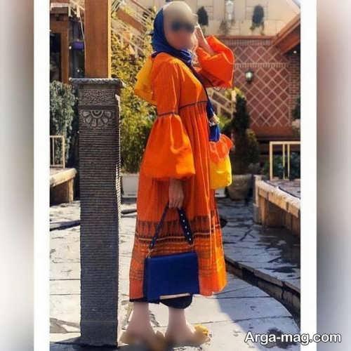 مانتوی نارنجی 2021