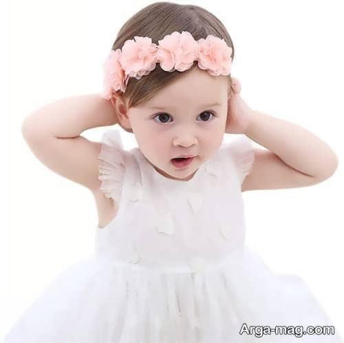 هدبند گلدار برای نوزاد