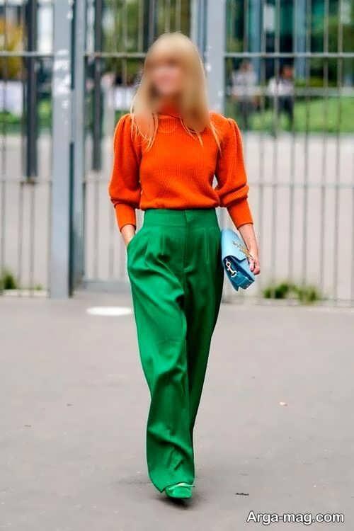 ست رنگ نارنجی و سبز