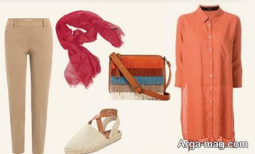 ست لباس نارنجی دخترانه