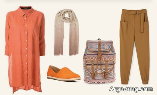 ست رنگ نارنجی در فصل های مختلف سال برای افراد خوش پوش