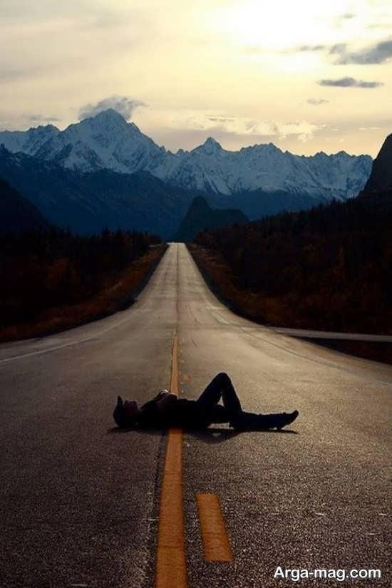 ژست عکس در جاده بسیار لاکچری و خاص