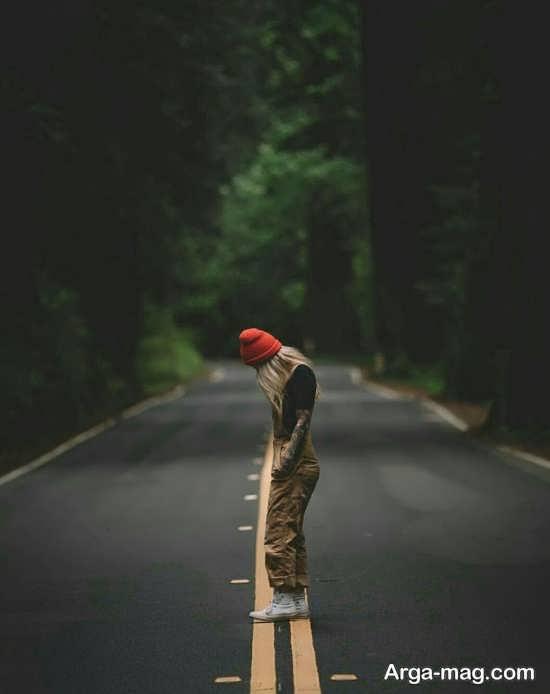 مجموعه متنوع ژست عکس در جاده